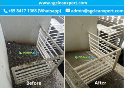 Before and After Aircon Ledge Cleaning - Pigeon poop & Bird Dropping Cleaning