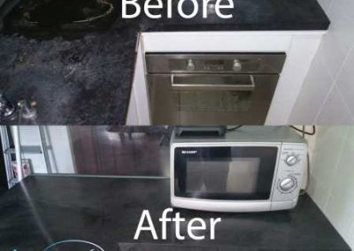 Before & After Kitchen Top Cleaning