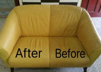 Before And After Sofa Leather cleaning
