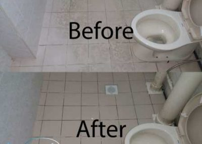 Before And After Toilet Floor  Cleaning